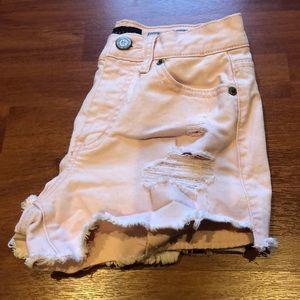 Aeropostale High Waisted Shorty Shorts.Powder Pink